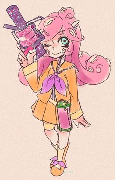 secret-draws-pain: I thought Raffine looked like an octoling so….