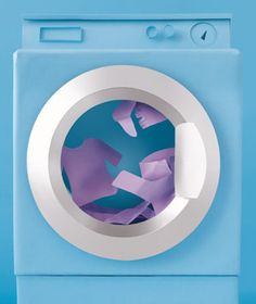 Washing machine made of paper by Matthew Sporzynski for Real Simple