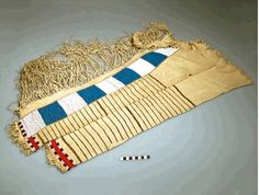 Sioux or Cheyenne leggings ca 1850. Coll. by Agent Twiss at Ft Laramie. NMAI