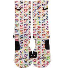 Nike Elite Custom 100'S Wild Style Colors Socks Fast And ($29) ❤ liked on Polyvore featuring intimates, hosiery, socks, grey, women's clothing, print socks, grey socks, pattern socks, polka dot socks en gray socks