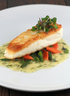 Pan Seared Halibut with Lemon Dill Sauce | from Jessica Gavin | Simple and elegant!