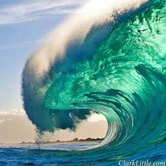Beautiful breaking waves, photo by Clark Little                              …                                                                                                                                                                                 More