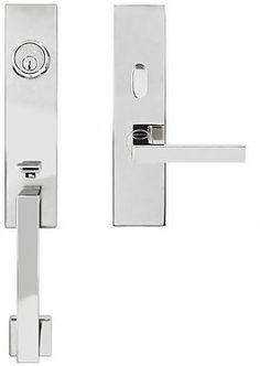 stainless steel tubular entry handle set $360 with tokyo lever