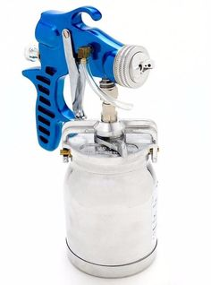 Professional Metal Spray Gun with 1-Quart Teflon Coated Paint Container #sprayer
