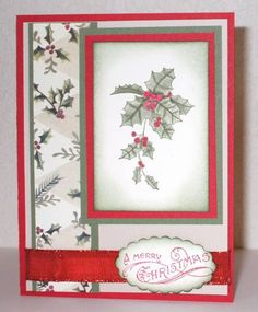 Christmas Holly by ladybug91743 - Cards and Paper Crafts at Splitcoaststampers