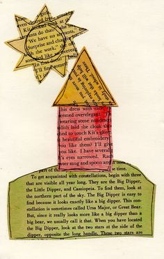 Old Paperback Book Collage. Simple collage project.