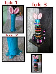 A 'bunny ear' bangle holder....  my creation :-)