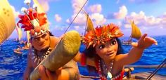 Chief Moana and her dad in ending scene of movie We know the way