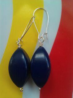 Vintage Lucite Blue Beaded Earrings ($25)
