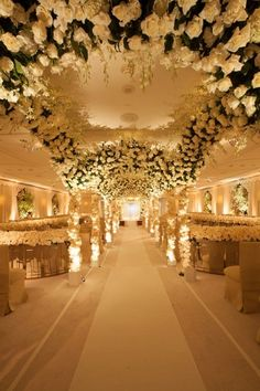 -An aisle of breathtaking blooms at @Beverly Wilshire/ Wedding  ♥