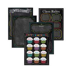 Chalk It Up Classroom Essentials Chart Pack $11.99