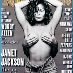 <p>This is a photo gallery from Perezhilton.com. Here is a photo featured of Janet Jackson topless on the cover. Click on this article to see the full gallery.</p><p>