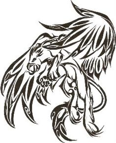 griffin Photo: griffin tattoo for kel. Tribal Tattoos, Tribal Tattoo Designs, Body Art Tattoos, New Tattoos, Cool Tattoos, Tatoos, Mythological Creatures, Mythical Creatures, Griffon Tattoo