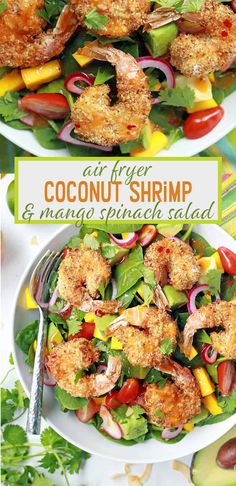 Air Fryer Coconut Shrimp Salad