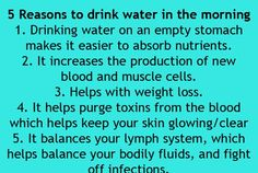 Reasons to drink water in the morning