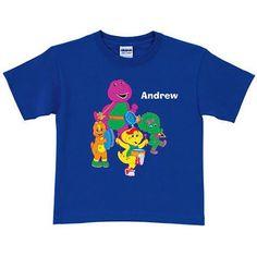 Personalized Barney & Friends Band Boys' T-Shirt, Seagreen/Darkslateblue