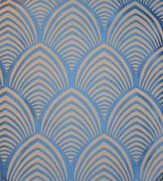 Tissu art deco EDO Thévenon motif art deco : Tissus Ameublement par kamea-cloudy-and-skiough Art Deco Tiles, Motif Art Deco, Art Deco Print, Art Deco Pattern, Art Deco Design, Wall Tiles, Design Design, Art Deco Wallpaper, Fabric Wallpaper