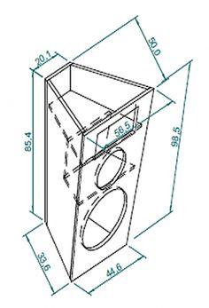 caixa-suspensa-2vias-01 Pro Audio Speakers, Speaker Kits, Speaker Plans, Diy Speakers, 12 Subwoofer Box, Subwoofer Box Design, Speaker Box Design, 12 Inch Speaker Box, Klipsch Speakers