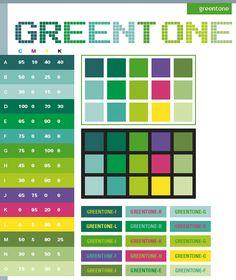 Green tone color scheme