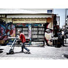 Noisy streets, Thiseio #Walking Around #Athens #Greece #monastiraki #bookstore #streets_greece #thiseio #wall #colorful #instagreece #ig_greece #ig_athens #vsco #vscoapp #vscocam #vscolife #streets_greece #street_photography #streetphotography