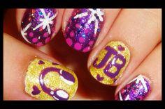 Totallycoolnails Justin Bieber nail art