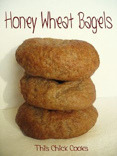 Whole Wheat Honey Bagels | This Chick Cooks