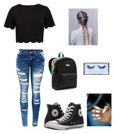 """""""Untitled #99"""" by denisse-arellanoaguirre on Polyvore featuring Ted Baker, Converse and Victoria's Secret"""