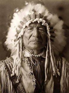 Native American Chiefs Sitting Bear, 1908. Photographer: Edward Curtis.