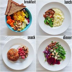 Breakfast, Lunch And Dinner - My list of the most healthy recipes Healthy Recipes, Healthy Meal Prep, Diet Recipes, Healthy Snacks, Healthy Eating, Lunch Snacks, Lunches And Dinners, Diet Meal Plans, Meal Planning