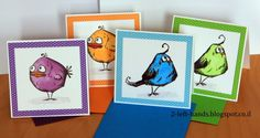 I am in love with the new Bird Crazy stamp set by Tim Holtz. I am not sure what it is, but those birds are just adorable.   Quick Copic col...