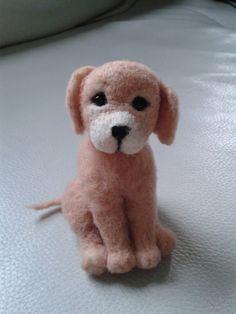 Needle felted dog ,felted Labrador , Lab Puppy, Golden Retriever Animal cute puppy, handmade OOAK by Made4ubyJackie on Etsy