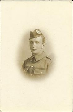 Portrait of a Scottish soldier Cameronians, WWI