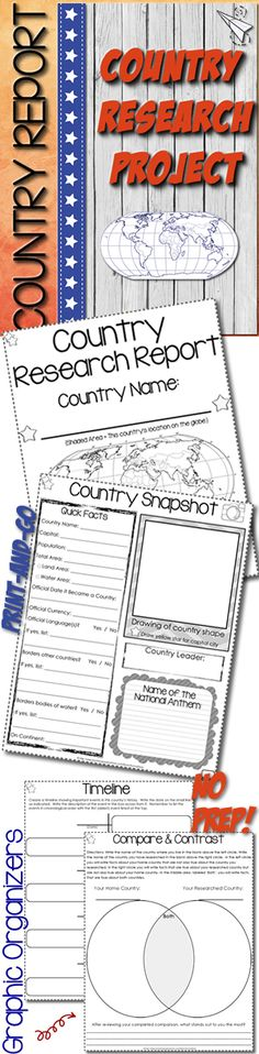 Research any country template. Print and go! $