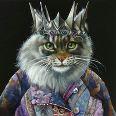 Explore collection of Fancy Cat Painting Pretty Cats, Beautiful Cats, Costume Chat, Steampunk Cat, Fancy Cats, Cat Character, Cat People, Animal Heads, Vintage Cat