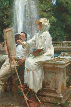 John Singer Sargent (1856-1925), American / The Fountain, Villa Torlonia, Frascati, 1907, oil on canvas / The Art Institute of Chicago, Chicago, ILL, USA