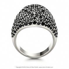 Pave Set Ring PATHOS at Colors of Eden #black #diamond