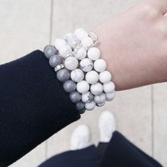 Set of marble bracelets
