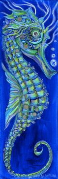 Neptune the Sea Horse Giclee Art Print 8 x by ErikaJohnsonGallery, $50.00