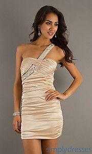 Buy Short One Shoulder Dress at SimplyDresses