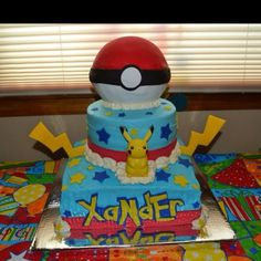 Pokemon birthday. My baby's 9th birthday cake!