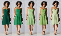 Shades of green bridesmaid dresses - Dress from The Dessy Group - After Six Bridesmaids Style 6609