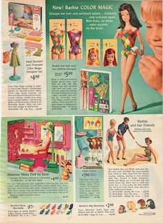Color Magic Barbie and Misty Doll and Beauty Salon by Ideal from the Sears Christmas Catalog, 1966