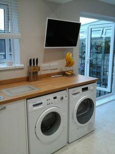 Bosch washer & dryer. Samsung hdtv