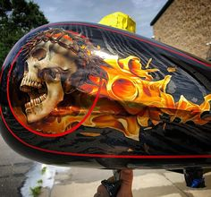 custom paint at its finest. An award winning artist whose list of recognition includes, first place awards at the ford nationals, airbrush excellence award, PPA House of Kolor Airbrush Art, Car Painting, Custom Paint, Custom Cars, Lion Sculpture, Guns, Statue, Metal, Artist