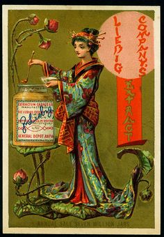 1878. Japanese (No. 1) trading card issued by Liebig Extract of Beef Company. S87.
