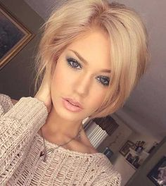 Stylish Short Dark Hair Cut for Girls