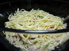 Spaghettisalat mit Schinken und Lauch, ein beliebtes Rezept aus der Kategorie Fl… Spaghetti salad with ham and leek, a popular recipe from the meat & sausage category. Whole30 Recipes Lunch, Healthy Recipes, Cambells Recipes, Easy Whole 30 Recipes, Avocado Salad Recipes, Avocado Chicken Salad, Spaghetti Squash Recipes, Chicken Salad Recipes, Moussaka