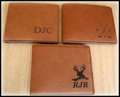 Personalized Men's Wallet Leather Custom Engraved Vegan Personalized Wedding Gifts, Customized Gifts, Handmade Wedding, Engraved Picture Frames, Custom Engraving, Laser Engraving, Leather Bifold Wallet, Message Card, Inspirational Gifts