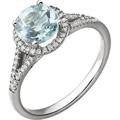 White Gold Ctw Diamond & Sky Blue Topaz Birthstone Ring (Size Quantities Available. This item will be gift wrapped in a contemporary gift box, making it a wonderful gift. In addition, a 'gift message' can be added. Topaz Birthstone, Birthstone Jewelry, Blue Topaz Ring, Topaz Gemstone, Blue Zircon, Aquamarin Ring, Gold Skies, Engagement Ring Buying Guide, Engagement Jewelry