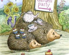 ♡ Garden Party Hedgehog's ♡